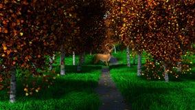 Олени осенью Стоковая Фотография RF