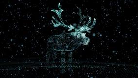 Олени рождества праздничные светящих пунктов Иллюстрация компьютера в ультра современном сток-видео