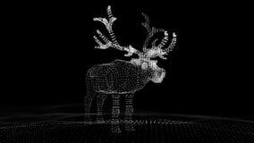 Олени рождества праздничные светящих пунктов Иллюстрация компьютера в ультра современном взгляде акции видеоматериалы