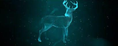 Олени цифров стоковое изображение