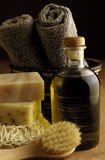 оливка масла ванны Стоковое фото RF