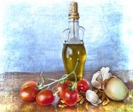 оливка масла вишни spices томаты Стоковая Фотография RF