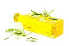 оливка масла трав бутылки Стоковое Фото