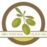оливка масла ярлыка Стоковое Изображение