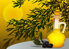 оливка масла иллюстрация вектора