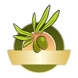 оливка ярлыка иллюстрация штока