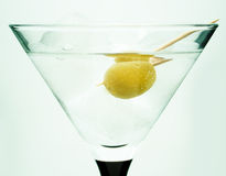 оливка martini льда Стоковые Фото