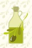 оливки оливки масла Иллюстрация вектора