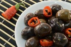 оливки пряные Стоковое Изображение