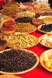 оливки рынка Стоковая Фотография