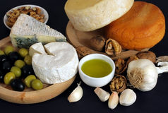 оливки сыра завтрака Стоковое Изображение RF