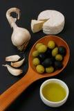 оливки сыра завтрака Стоковые Изображения