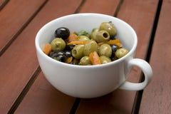 оливки чашки Стоковая Фотография RF