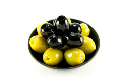 оливки черного шара зеленые Стоковая Фотография
