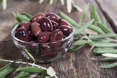 Оливки Kalamata Стоковое Изображение RF