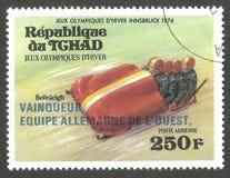 Олимпиады в Инсбруке, бобслее стоковое изображение