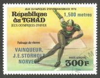 Олимпиады в Инсбруке, катаясь на коньках стоковые изображения rf