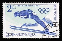 Олимпиады зимы IXth, Инсбрук 1964: Прыжки с трамплина, serie, около стоковое фото rf
