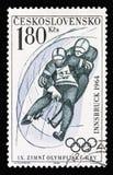 Олимпиады зимы IXth, Инсбрук 1964: Санный спорт, serie, около 1964 стоковое изображение rf