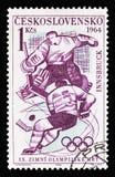 Олимпиады зимы IXth, Инсбрук 1964: Icehockey, serie, около 19 стоковые фото
