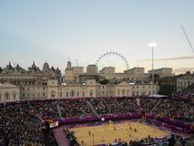 Олимпиады 2012 Лондона волейбола пляжа стоковая фотография