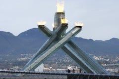 Олимпиады vancouver котла стоковое изображение
