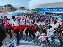Олимпийские Игры зимы Pyeongchang стоковые фото
