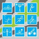 Олимпийские иконы спорта Стоковое Изображение