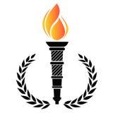 Олимпийский факел Стоковая Фотография RF
