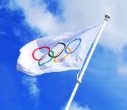 Олимпийский флаг Стоковые Изображения