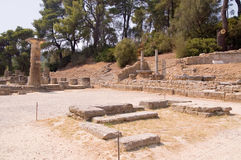Олимпия. Место где воспламените олимпийское пламя Стоковые Фотографии RF