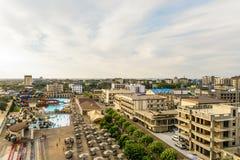 Олимпия Aquapark на курорте Чёрного моря и туристском городке стоковое фото rf