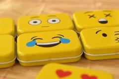 Олов металла Emoji стоковые фото