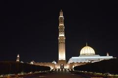 Оманский - мечеть Qaboos султана грандиозная Стоковые Изображения RF