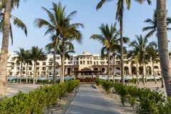 Оман, Salalah, 19 10 2016 - изумительные гостиницы залива Fanar Souly Al гостиницы стоковая фотография