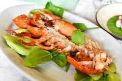 Омар испарился с азиатской травой, тайской варя едой сплавливания стиля стоковая фотография