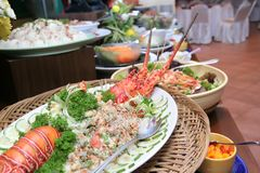 омар обеда шведского стола Стоковая Фотография RF