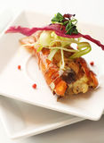 омар сыра расплавил покрынный овощ Стоковое Фото