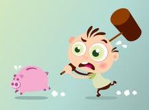 ломать банка piggy бесплатная иллюстрация