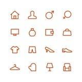 домашний комплект иконы Стоковое Изображение