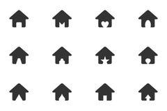 домашний комплект иконы иллюстрация вектора