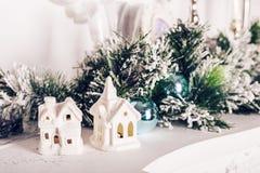 домашняя помадка белизна изоляции декора рождества Стоковые Фотографии RF