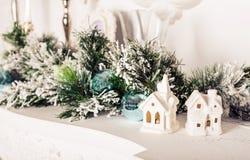 домашняя помадка Декор белого рождества Стоковое Изображение RF