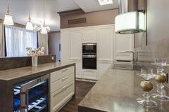 домашняя роскошь кухни Стоковая Фотография
