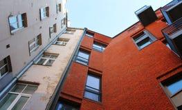 2 дома, городская архитектура Стоковое Изображение