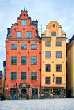 2 дома на квадрате Стоковое Изображение
