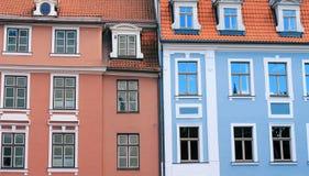 2 дома около старого городка Стоковые Фото