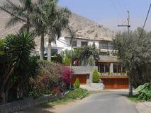 4 дома уровней современных в Chaclacayo, Лиме, Перу Стоковые Изображения RF