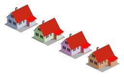 4 дома Стоковое Фото