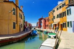 дома burano цветастые Италия venice Стоковая Фотография RF